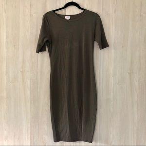 Like New LuLaRoe SOLID Gray Julia Dress Sz S (4-6)